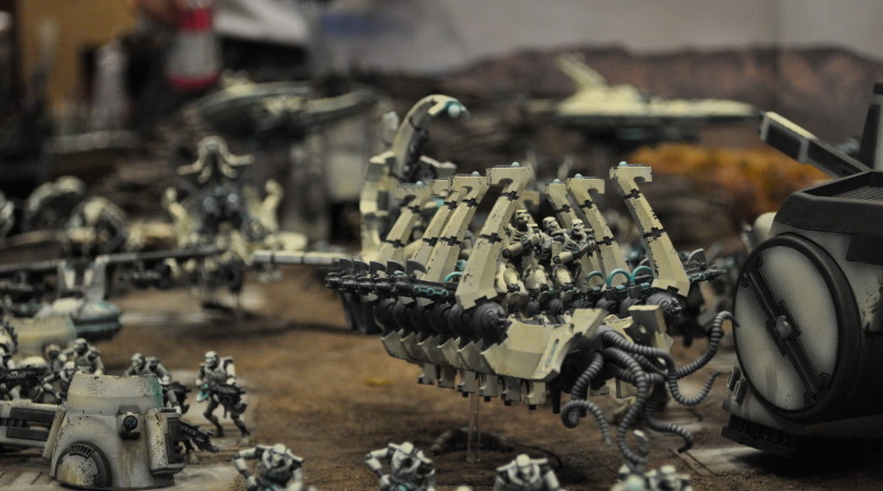 JF Dubeau and his 2013 Adeptcon Warhammer 40k team miniatures
