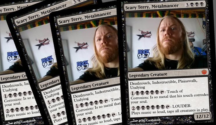 Scary Terry Stevens as a Magic Card